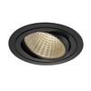 114270 NEW TRIA 150 ROUND CS светильник встраиваемый 29Вт с БП и LED 3000К, 2425лм, 30°, 1-10В, черный SLV by Marbel