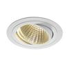 114271 NEW TRIA 150 ROUND CS светильник встраиваемый 29Вт с БП и LED 3000К, 2500лм, 30°, 1-10В, белый SLV by Marbel