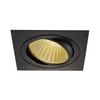 114280 NEW TRIA 150 SQUARE CS светильник встраиваемый 29Вт с БП и LED 2700К, 2210лм, 30°, 1-10В, черный SLV by Marbel