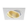 114281 NEW TRIA 150 SQUARE CS светильник встраиваемый 29Вт с БП и LED 2700К, 2275лм, 30°, 1-10В, белый SLV by Marbel