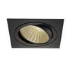 114290 NEW TRIA 150 SQUARE CS светильник встраиваемый 29Вт с БП и LED 3000К, 2425лм, 30°, 1-10В, черный SLV by Marbel
