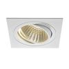 114291 NEW TRIA 150 SQUARE CS светильник встраиваемый 29Вт с БП и LED 3000К, 2500лм, 30°, 1-10В, белый SLV by Marbel