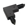 143060 1PHASE-TRACK, L-коннектор с разъёмом питания, 16А макс., GND по внутреннему углу, черный SLV by Marbel