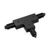 143070 1PHASE-TRACK, T-коннектор с разъёмом питания, 16А макс., GND слева, черный SLV by Marbel