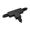 143080 1PHASE-TRACK, T-коннектор с разъёмом питания, 16А макс., GND справа, черный SLV by Marbel