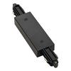 143100 1PHASE-TRACK, коннектор прямой с разъёмом питания, 16А макс., черный SLV by Marbel