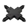 143160 1PHASE-TRACK, X-коннектор с разъемом подвода питания, черный SLV by Marbel