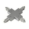 143162 1PHASE-TRACK, X-коннектор с разъемом подвода питания, серебристый SLV by Marbel