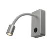 146704 SLV PIPOFLEX светильник накладной 4.6Вт с выключателем и LED 3000К, 200лм, 35°, серебристый