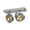 147316 KALU 2 ES111 светильник накладной для 2-х ламп ES111 по 75Вт макс., матированный алюминий SLV by Marbel