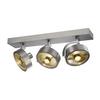 147326 KALU 3 ES111 светильник накладной для 3-х ламп ES111 по 75Вт макс., матированный алюминий SLV by Marbel