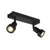 147370 PURI DOUBLE CW светильник накладной для 2-х ламп GU10 по 50Вт макс., черный SLV by Marbel