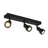 147380 PURI TRIPLE CW светильник накладной для 3-х ламп GU10 по 50Вт макс., черный SLV by Marbel