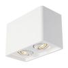148052 PLASTRA 25 DOUBLE светильник потолочный для 2х ламп GU10 по 35Вт макс., белый гипс SLV by Marbel