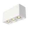 148053 PLASTRA 35 TRIPLE светильник потолочный для 3х ламп GU10 по 35Вт макс., белый гипс SLV by Marbel