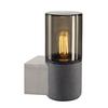 155752 SLV LISENNE WL светильник настенный для лампы E27 23Вт макс., темно-серый базальт/ стекло дым