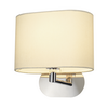 155861 SLV SOPRANA OVAL WL-1 светильник настенный для лампы E27 60Вт макс., хром/ белый