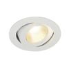 161271 CONTONE® TURNO ROUND DtW светильник встраив. 16Вт с LED 2000-3000К, 890лм, 30°, CRI>90, с БП, белый SLV by Marbel
