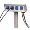 227000 ENERGY-PACK блок подключения на 4 розетки 230B/16A, IP54, шток в грунт 50 см, серый SLV by Marbel