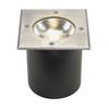 227604 SLV ROCCI SQUARE светильник встраиваемый IP67 9.8Вт c LED 3000К, 580лм, 20°, сталь