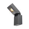 231865 BENDO WL светильник настенный IP55 12Вт с LED 3000К, 820лм, 80°, антрацит SLV by Marbel