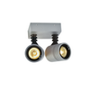 233094 SLV NEW MYRA WL DOUBLE светильник накладной IP55 для 2х ламп GU10 по 50Вт макс., серебристый