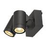 233255 SLV HELIA LED SPOT DOUBLE светильник накладной IP55 16Вт c LED 3000К, 900лм, 2х 38°, антрацит