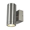 233312 ASTINA STEEL LED светильник настенный IP44 8.7Вт c LED 3000К, 510лм, 2х 24°, сталь SLV by Marbel
