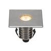 233692 DASAR® 100 PREMIUM SQUARE светильник встраиваемый IP67 5.5Вт c LED 3000К, 300лм, 24°, Al, сталь SLV by Marbel