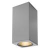 234514 BIG THEO LED BEAM светильник настенный IP44 29Вт с LED 3000К, 130лм+2000лм, 2°+24°, серебристый SLV by Marbel