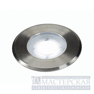 Marbel 228411 SLV DASAR FLAT 230V LED recessed ground spot, round, 4,3W LED, white, stainl. steel cover