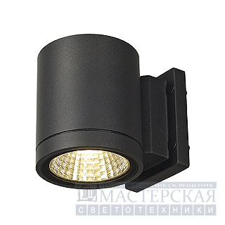 Marbel 228515 SLV ENOLA_C OUT WL wall lamp, round, anthracite, 9W LED, 3000K, 35гр.
