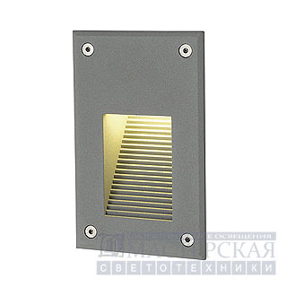 Marbel 229722 SLV BRICK LED DOWNUNDER VER светильник встр. IP54 c 12 WW LED, 8.4Вт, серебр