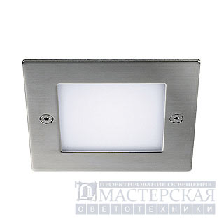 Marbel 230131 SLV FRAME OUTDOOR 16 LED recessed, square, stainless steel, white