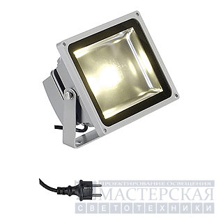 Marbel 231112 SLV LED OUTDOOR BEAM 30W светильник IP65 с SMD LED 30Вт, 1800lm, 3300K, серебристый