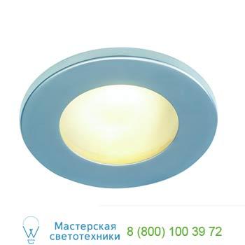 Marbel 111008 FGL OUT ROUND MR16 светильник встраиваемый IP65 для лампы MR16 35Вт макс., cеребр./ стекло ма
