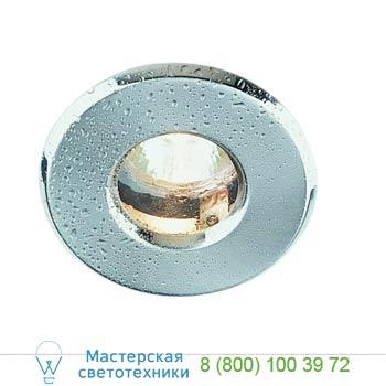 Marbel 111018 OUT 65 светильник встраиваемый IP65 для лампы MR16 35Вт макс., текстурный хром / стекло прозр