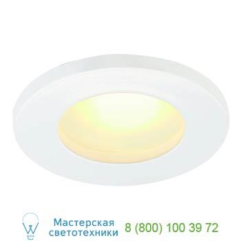 Marbel 111021 FGL OUT ROUND GU10 светильник встраиваемый IP44 для лампы GU10 35Вт макс., белый / стекло мат
