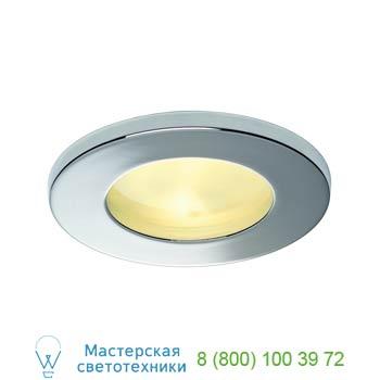 Marbel 111022 FGL OUT ROUND GU10 светильник встраиваемый IP44 для лампы GU10 35Вт макс., хром / стекло мато