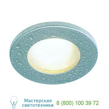 Marbel 111027 FGL OUT ROUND GU10 светильник встраиваемый IP44 для лампы GU10 35Вт макс., титан / стекло мат