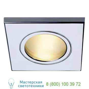 Marbel 111122 FGL OUT SQUARE MR16 светильник встраиваемый IP65 для лампы MR16 35Вт макс., хром / стекло мат