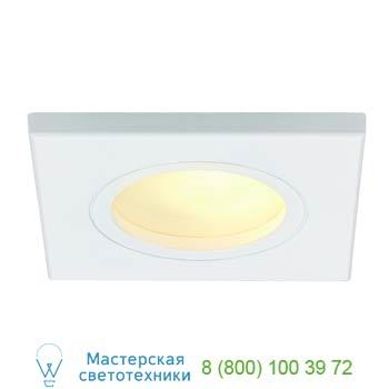 Marbel 111141 FGL OUT SQUARE GU10 светильник встраиваемый IP65 для лампы GU10 35Вт макс., белый / стекло ма