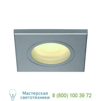 Marbel 111144 FGL OUT SQUARE GU10 светильник встраиваемый IP65 для лампы GU10 35Вт макс., серебристый / сте