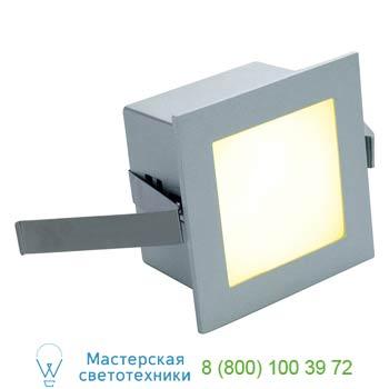 Marbel 111262 FRAME BASIC LED светильник встраиваемый с белым теплым PowerLED 1Вт, серебристый, SLV