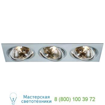 Marbel 111373 NEW TRIA 3 QRB111 светильник встраиваемый для 3-x ламп QRB111 по 75Вт макс., матир. алюминий,