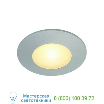 Marbel 112344 AITES LED ROUND светильник встраиваемый с PowerLED 1Вт, 3000K, 80lm, 350mA, матированный алюм