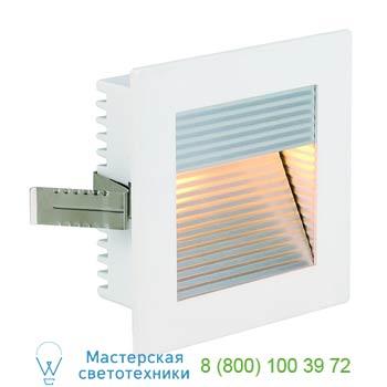 Marbel 112771 FLAT FRAME, CURVE светильник встраиваемый для лампы G4 20Вт макс., белый, SLV