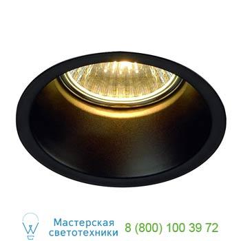 Marbel 112910 HORN GU10 светильник встраиваемый для лампы GU10 50Вт макс., матовый черный, SLV