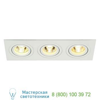 Marbel 113513 NEW TRIA 3 GU10 светильник встраиваемый для 3-х ламп GU10 по 50Вт макс., текстурный белый, SL