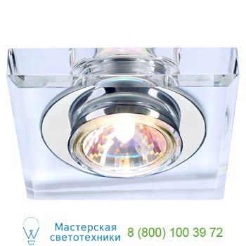Marbel 114920 CRYSTAL 1 светильник встраиваемый для лампы MR16 35Вт макс., хром/ стекло прозрачное кристалл